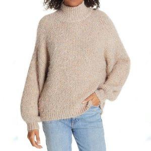 Joie Markita Eyelash Knit Balloon Sleeve Sweater L